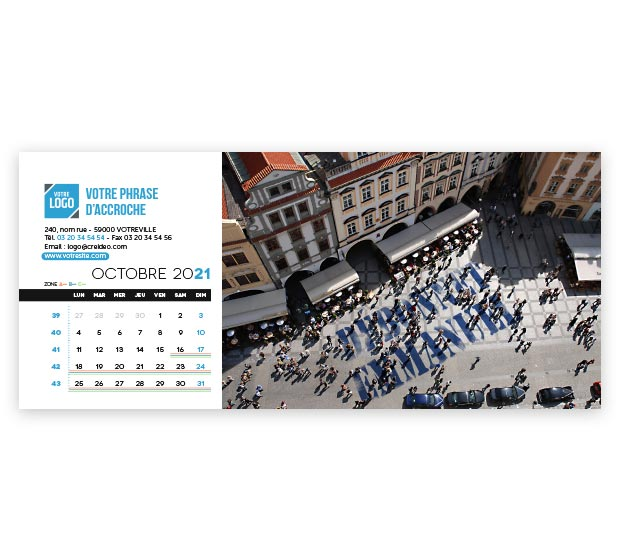 calendrier Allongé nominatif - Photo 16