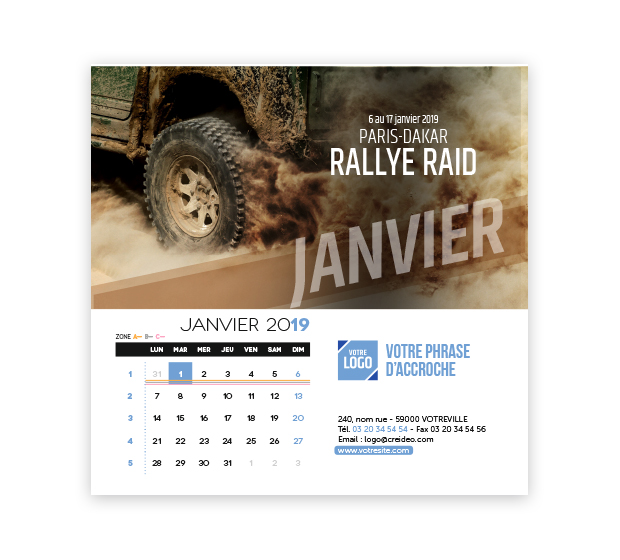 calendrier Carré - Photo 7