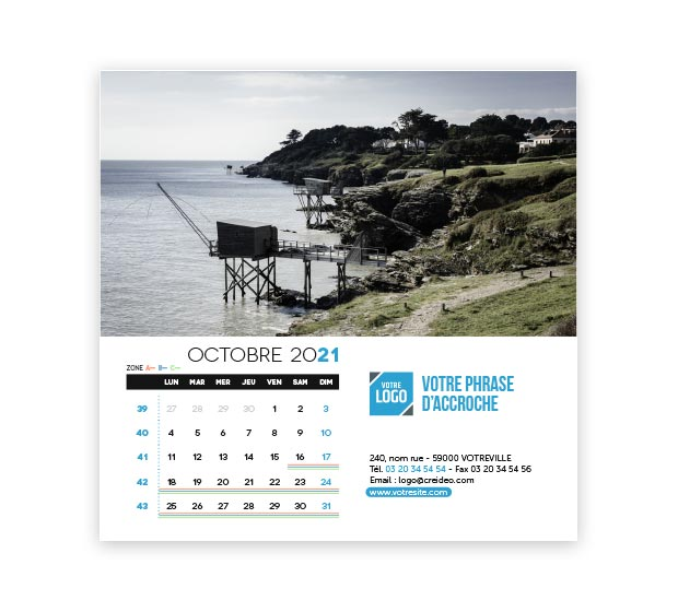 calendrier Carré - Photo 16