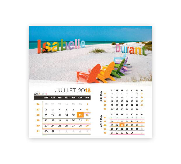 calendrier Intégral nominatif - Photo 13