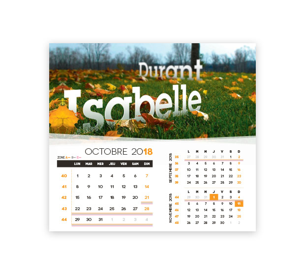 calendrier Intégral nominatif - Photo 16