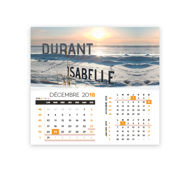 calendrier Intégral nominatif - Photo 18