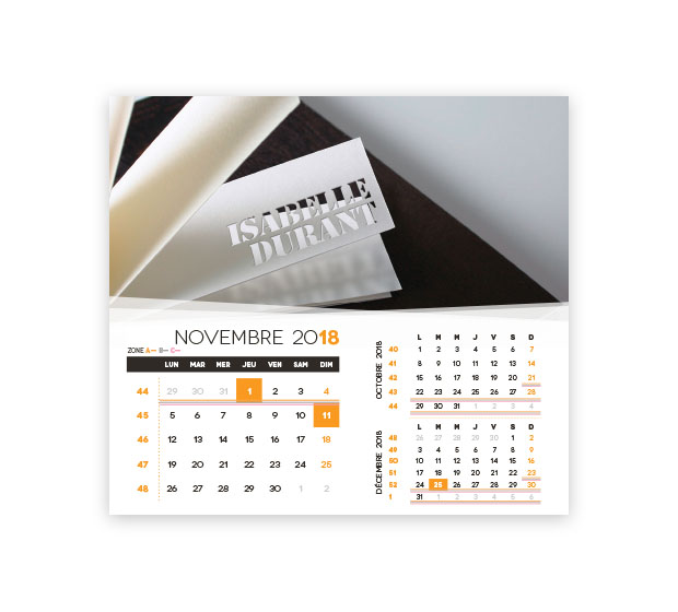 calendrier Intégral nominatif - Photo 17