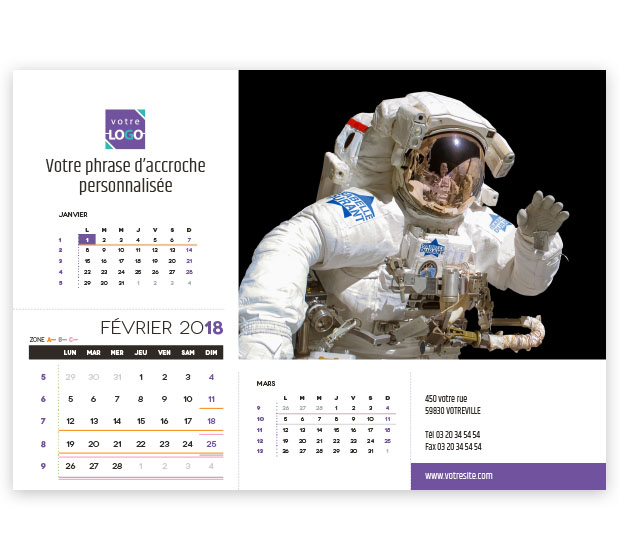 calendrier Prestige nominatif - Photo 9