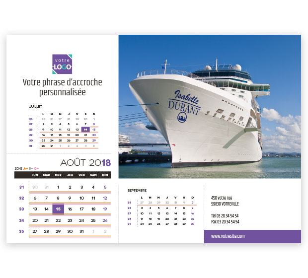 calendrier Prestige nominatif - Photo 15